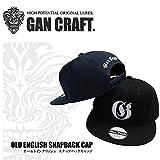 GANCRAFT ガンクラフト オールドイングリッシュスナップバックキャップ GAN CRAFT OLD ENGLISH SNAPBACK CAP ブラックブラックロゴ フリーサイズ