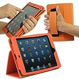 Hy+ iPad mini ハンディーケース オートスリープ機能搭載、ハンディストラップ付 (オレンジ)
