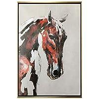 L.Z.H アートパネル 壁飾り 50cmX60cm装飾画ギャラリーベッドルームホテルのベッドサイド動物馬の絵画を絵画オイルを手描き 壁掛けキャンバス