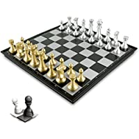 BESTOYARD Travel Folding Magnetic Chess Set Portable Travel Chess Board Game Toy Premium