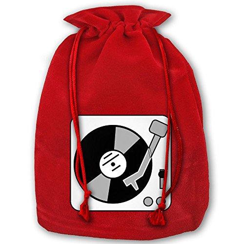 ラッピング袋 ナップサック 巾着袋 ターンテーブル 音楽 レ...