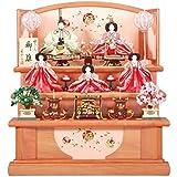 雛人形 五人揃三段飾り 【辻ヶ花】セット 27号(5人)[幅81cm] パールピンク塗[sb-2-17] 雛祭り