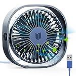扇風機USB 卓上扇風機 携帯扇風機 ミニ扇風機【2019最新版】小型 超静音 超強風 3段階風量調節 360度角度調整 空調補助 熱中症対策 コンパクト 持ち運びに便利 卓上ミニファン