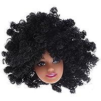 Domybest 人形頭 人形アクセサリー ウィッグ ヘア 人形ヘッド バービー ケーキ人形 DIY 玩具 ドール髪 かつら ボディアクセサリー キット 着せ替え人形パーツ ごっこ遊び 子供 キッズ 女の子 可愛い 無毒