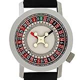 (アクテオ) AKTEO メンズ レディース 腕時計 グッズ 34mm ルーレット ROULETTE ウォッチ 時計 ブラック フランス製 [国内正規品]