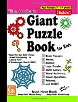 The Husam Giant Puzzle Book for Kids: Brain Teasers, Mazes, Riddles, Logic Puzzles, Math Games, Word Activities, Visual Questions, Rebuses, and More!