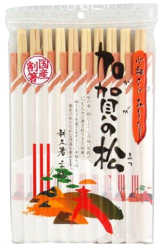 【まとめ買いセット】日本産 加賀の松 利休箸 1パック20膳×10パック 合計200膳 088074