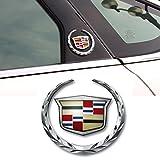 Deselen – EBS-BT - キャデラック エンブレム付きクロームモーションブレード サイドマーク メタルラペット デカール ラベリングカーステッカー Cadillac V3 EBS-BT08
