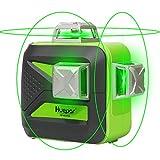 Huepar 12ライン グリーン レーザー墨出し器 緑色 レーザー クロスラインレーザー 自動補正機能 高輝度 高精度 ライン出射角360°4方向大矩照射モデル 3*360° 603CG
