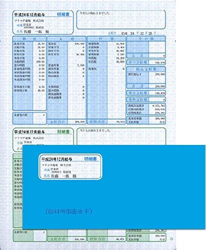 [해외]소리마치 급여 · 상여금 명세서 (명세서 세로 형) 봉투 할인 세트 500 장 SR281/Sorimachi salary | bonus line item (detailed vertical type) · 500 envelope discount set SR281