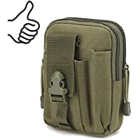 Multi-Purpose EDC Vape Pouch Bag, Vape Case,Tactical Bag Pouch, Military Nylon Utility Tactical Waist Pack Camping Hiking Pouch(Army Green)