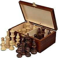 GHP Weighted Tournament Chessmen Set w Wood Storage Box
