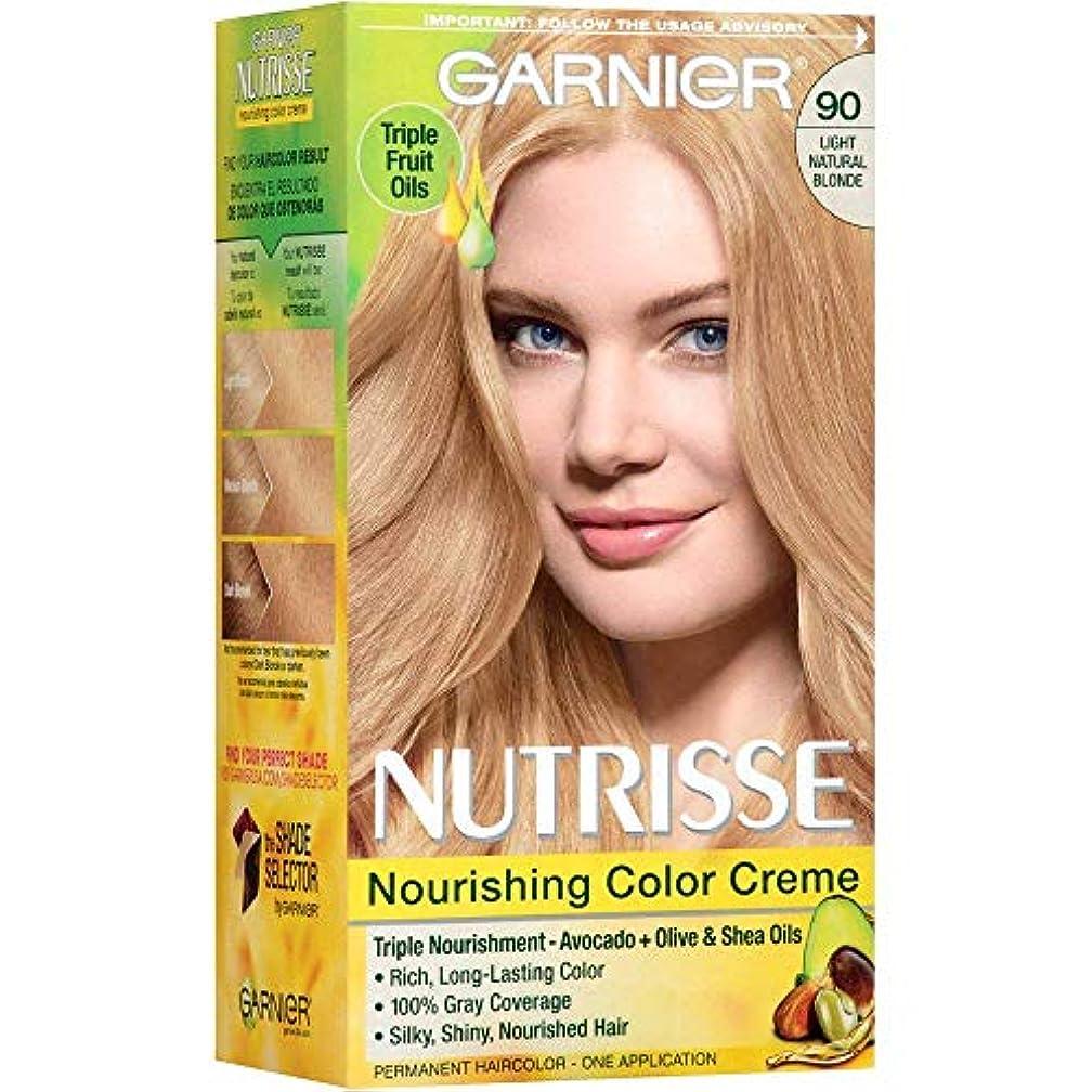 せがむキリマンジャロ王位Garnier Nutrisse栄養カラークレーム、ライトナチュラルブロンド[90] 1 Eaは 1パック