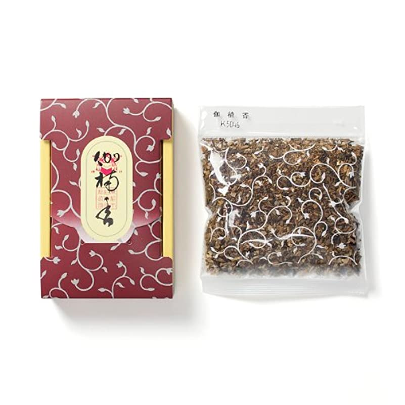 しゃがむ封筒一般的に松栄堂のお焼香 伽楠香 25g詰 小箱入 #410641