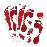 KUUQA ハロウィン 飾りシール飾り付け 屋外装飾品血の足 血痕ステッカー パーティー小物 四枚入れ 26個