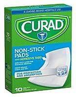 Curad 非粘着パッド3インチ×4インチ10個(3パック)