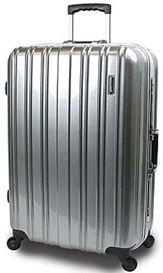 【SUCCESS サクセス】 スーツケース 2サイズ( 大型 76cm / ジャスト型 71cm ) 軽量 安心フレーム TSAロック 搭載 新型 ジェノバPC2015 (ジャスト型 Jサイズ(71cm), プレミアムカーボン)