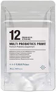 マルチ乳酸菌Prime 30日分 生きる乳酸菌サプリメント 生菌6000億個 12種の乳酸菌 プロバイオティクス cowhappi