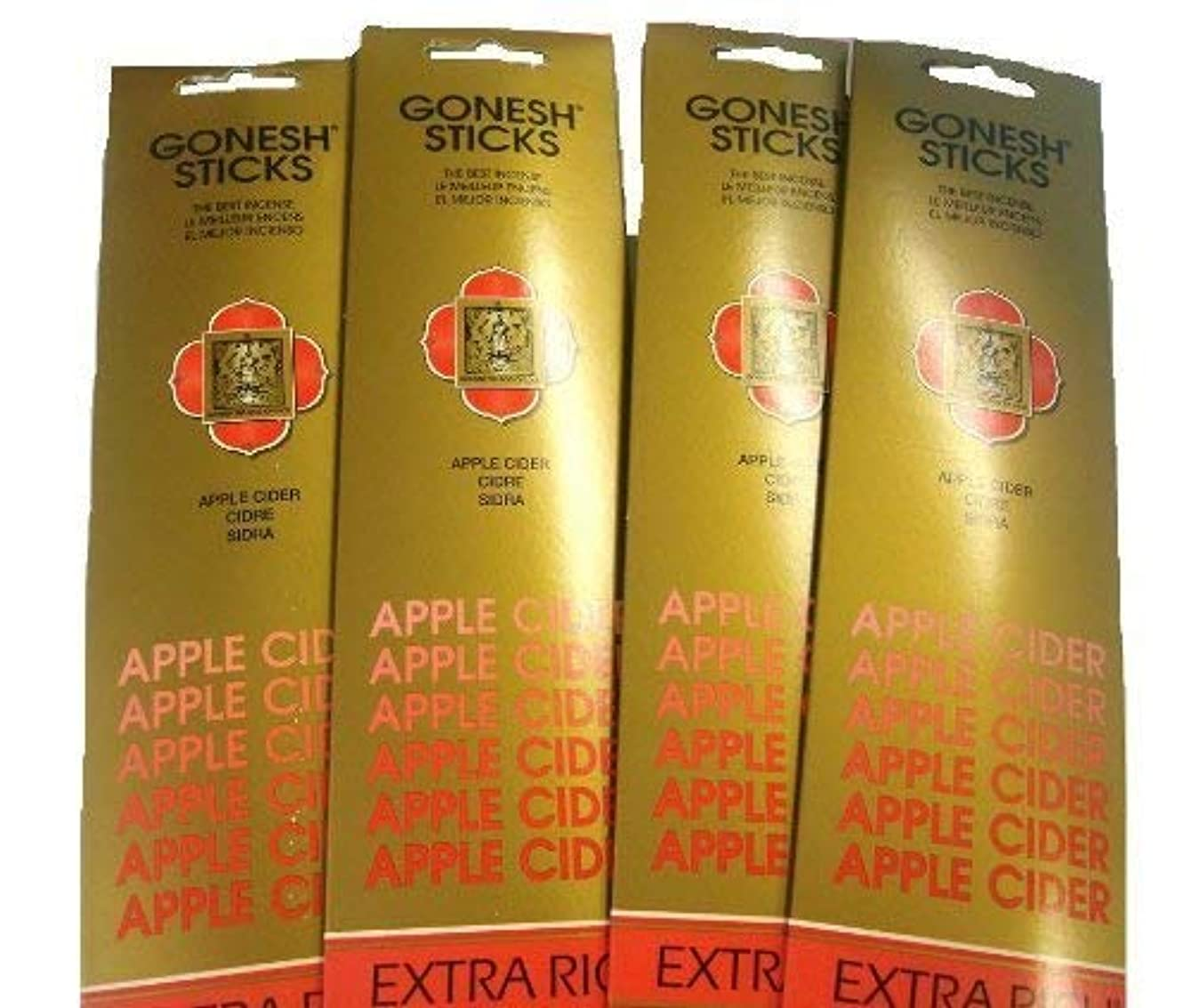 失われた政策ピニオンGonesh Incense Sticks – Apple Cider Lot Of 4