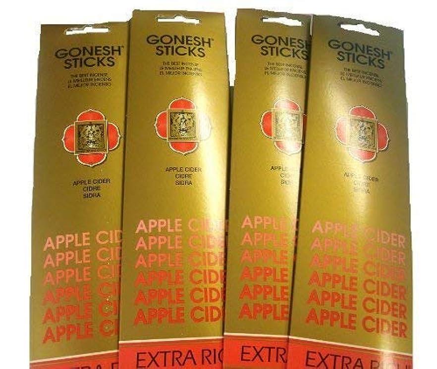 ヒューズで出来ている四面体Gonesh Incense Sticks – Apple Cider Lot Of 4