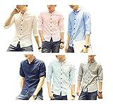 LACOSTE セーター (Make 2 Be) メンズ トップス シャツ 半袖 七分袖 無地 麻混紡 丸襟 スリム MF51