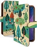 【KEIO】isai LGL22 手帳型 ケース カバー 鳥 花 LGL 22ケース LGL 22カバー イサイ 手帳型ケース 手帳型カバー 動物 アニマル [北欧 景色 鳥/t0188]
