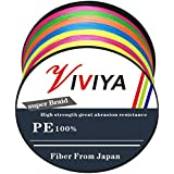 Viviya PEライン 釣り糸 4編 8編 5色マルチカラー 200m 300m 500m(0.6号 0.8号 1号 1.5号 2号 3号 4号 5号 6号 7号 8号) 高強度 高感度 低伸度