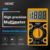 Shenghe ANENG AN8206ミニデジタルマルチメーターブザー方形波出力アンペア電圧オームテスタープローブ電子マルチメーター 黄