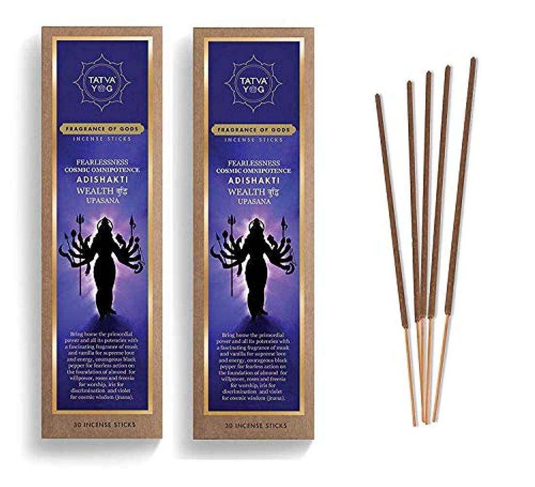 泥だらけタヒチ湿地Adishakti Long Lasting Incense Sticks for Daily Pooja|Festive|Office|Scented Natural Agarbatti for Positive Energy & Good Health & Wealth (Pack of 2 | 30 Sticks in Each Pack)