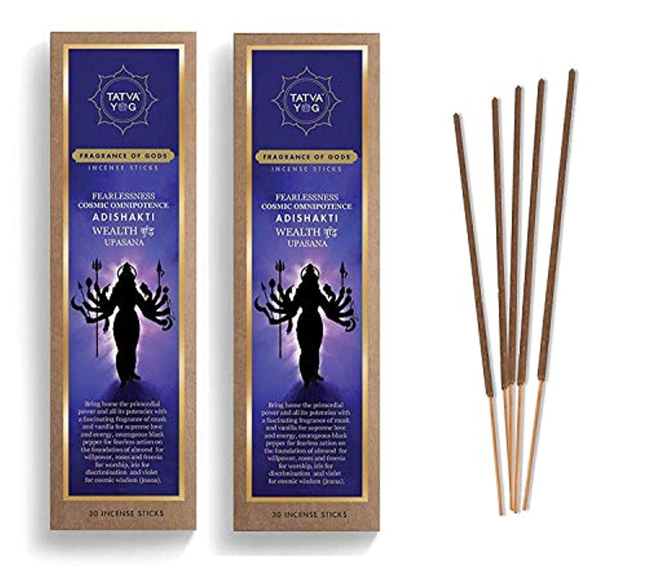 ディスパッチ葉を集める恐怖症Adishakti Long Lasting Incense Sticks for Daily Pooja|Festive|Office|Scented Natural Agarbatti for Positive Energy & Good Health & Wealth (Pack of 2 | 30 Sticks in Each Pack)