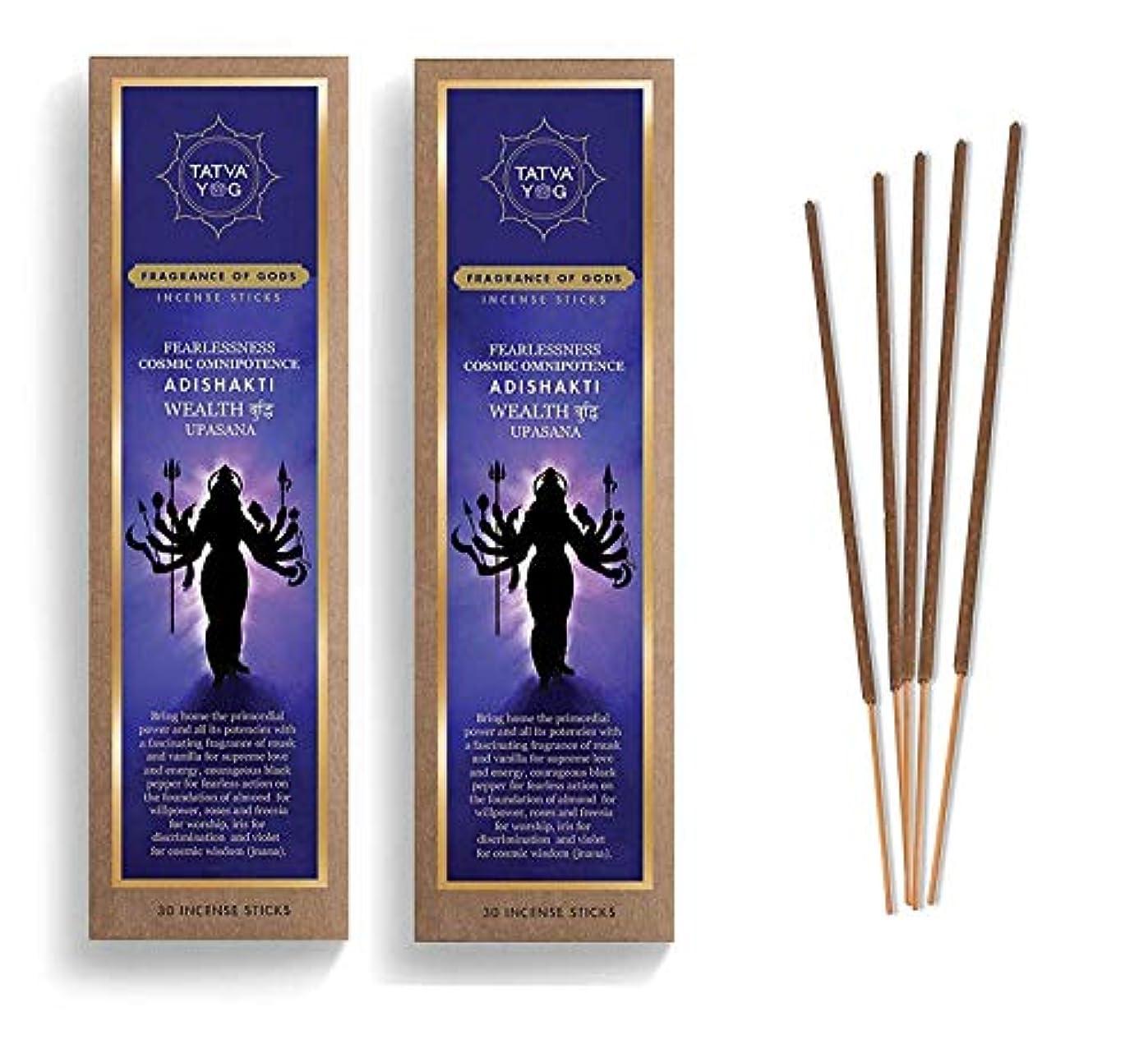 みなすおとこしないAdishakti Long Lasting Incense Sticks for Daily Pooja|Festive|Office|Scented Natural Agarbatti for Positive Energy & Good Health & Wealth (Pack of 2 | 30 Sticks in Each Pack)