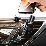 スマホホルダー 車載ホルダー 携帯ホルダー エアコン吹き出し口取り付け/片手操作可能/自由調節可能/360度回転可能/4-6インチ多機種対応 Android & iPhone カーホルダー【DIVI】 (ブラック)