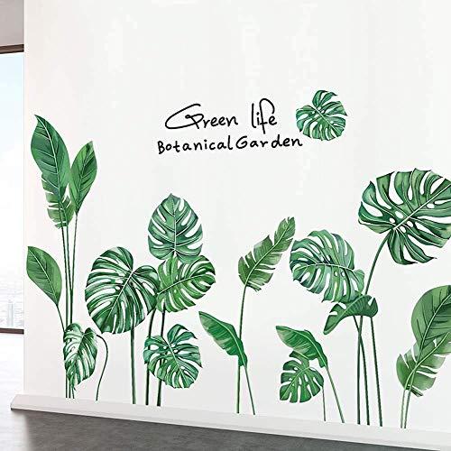 Amaonm Creative Girls Nursery Room Wall Decoration art Decor Decals 3D DIY Green Plants Fresh Leaves Peel Stick Wall Stickers Murals Paper for Kids Baby Bedroom Living Room Office Bathroom Wall Corner