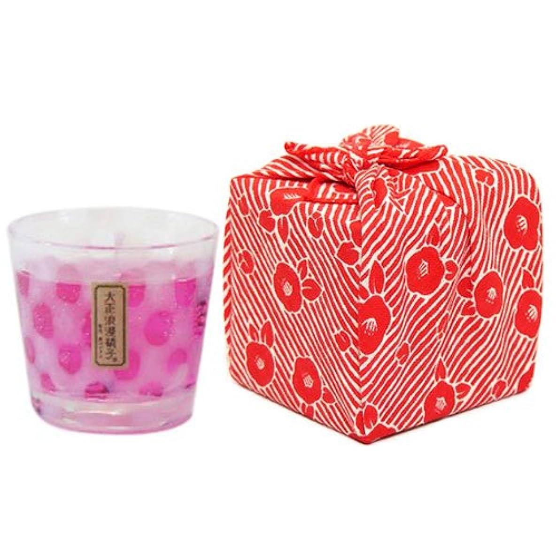 万一に備えてレインコート確かな江戸キャンドル カラーキャンドル 牡丹 水玉/薄紅 kou×伝統工芸 大正浪漫硝子