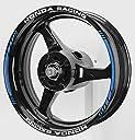AxxL バイク用 17インチ カスタムリムステッカー ホンダレーシング ブルー SP6-HONDA-BLUE