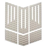 ロゴ無し サーフィン フロント 用 デッキパッド カスタム グリップ 6 カット パターン ホワイト 白