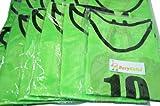 【BeryKoKo】 ビブス 1番 ~ 12番 12枚 セット サッカー フットサル ベスト ネオンカラー グリーン 黄緑 ゲッコー 【正規品/30日間保証】
