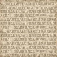 Karen Foster 12 X 12-Inch Scrapbook Paper 25 Sheets Baseball Season [並行輸入品]