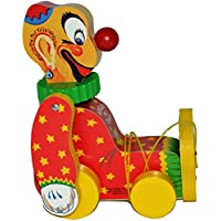 Fisher Price Squeaky the Clown Limited Edition # 6593 Pull Toy