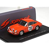 1968ポルシェ911t、NO。210 , Winner Monte Carlo Rallyモデルカーin 1 : 43スケールby Spark