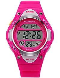 SKMEI 腕時計 LED多機能スポーツウォッチ M905A キッズ (ピンク)