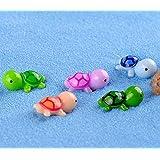 "Smilesky Sea Turtle Figure Animal Tortoise DIY Toys Home Garden Office Fish Tank Decorations Random Color 0.9"" (Pack of 10)"