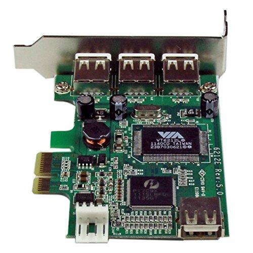 High Speed USB 2.0 4ポート増設PCI Expresカード ロープロファイル対応 外部ポート x3 内部ポート x1 PEXUSB4DP