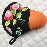 耐熱手袋 手袋 シリコーン ホットポットホルダー オーブングローブ ミニオーブンミット 料理 2PCS キャンプグローブ (Color : Orange)