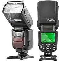 フラッシュ ストロボ K&F Concept® スピードライト カメラフラッシュ KF590EX-C TTL機能対応 Nikon/Canon一眼レフカメラに対応