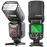 フラッシュ・スピードライト K&F Concept フラッシュ ストロボ Canon用 カメラフラッシュ E-TTL機能対応 GN56 M/MULTI/S1/S2 フラッシュモード Canon一眼レフカメラに対応 (Canonカメラ適用) KF590EX-C