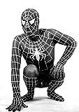 HALLE SHOP---スパイダーマン 全身タイツ ゼンタイ cosplay 弾力・伸縮性あり コスチューム ハロウィン、クリスマス、イベント、お祭り仮装など (オーダーメイド, 身長によってサイズをお選んでください。)