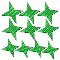 四角形 車用安全反射ステッカー 防水反射テープ 夜間に超目立つ 危険防止 10枚 緑