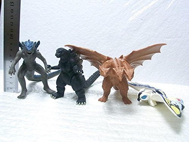 ゴジラレインボーモスラキングギドラエメゴジ大怪獣烈伝ミニソフビバンダイ