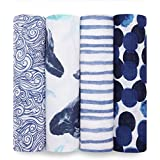 Aden and Anais Seafaring Classic Muslin Swaddles, Blue, 4 Count
